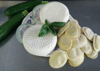 ravioli ricotta basilico zucchini
